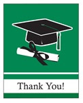 Green Congrats Grad Thank You Cards (25/pkg)