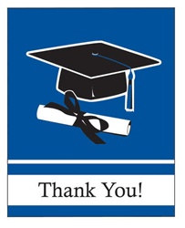 Blue Congrats Grad Thank You Cards (25/pkg)