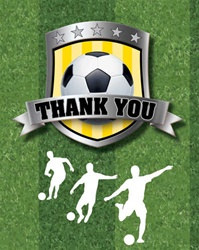 Soccer Party Thank You Notes (8/pkg)