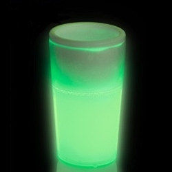 Green Glow Light Up Shot Glass (1.5 oz)