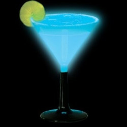 Blue Glow Light Up Martini Glass (1/pkg)