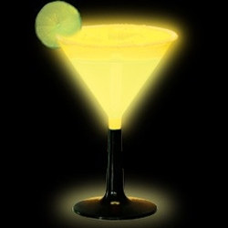 Yellow Glow Light Up Martini Glass (1/pkg)