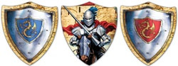 Valiant Knight Cutout Assortment (3/pkg)