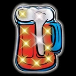 Flashing LED Beer Mug Pin (1/pkg)