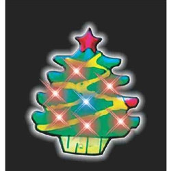 Flashing LED Christmas Tree (1/pkg)