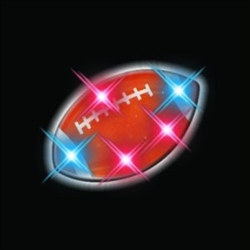 Flashing LED Football Pin (1/pkg)