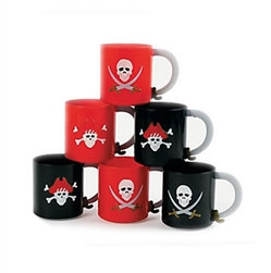 Plastic Pirate Mugs