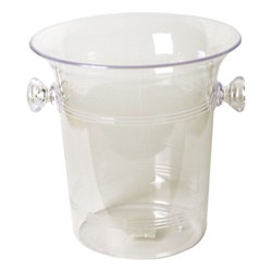 Clear Plastic Ice Bucket