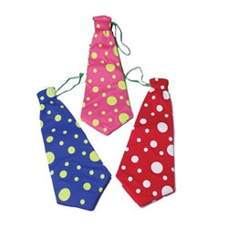 Assorted Adult Clown Ties (1/pkg)