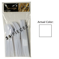 White Assorted Plastic Cutlery (24/pkg)