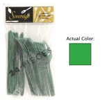 Green Assorted Plastic Cutlery (24/pkg)