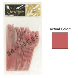 Burgundy Assorted Plastic Cutlery (24/pkg)