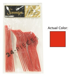 Red Assorted Plastic Cutlery (24/pkg)
