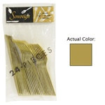 Gold Assorted Plastic Cutlery (24/pkg)