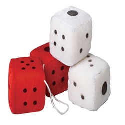 Assorted Large Plush Dice (1 pair/pkg)