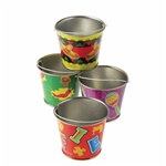 Assorted Mini Metal Fiesta Buckets (1/pkg)