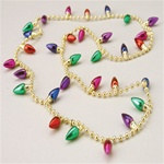 Christmas light strand necklace