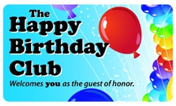 The Happy Birthday Club Plastic Pocket Card