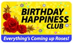 Birthday Happiness Club Plastic Pocket Card