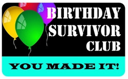Birthday Survivor Club Plastic Pocket Card