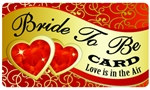 Bride To Be Plastic Pocket Card (1/Pkg)