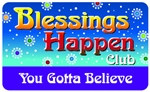 Blessings Happen Club Plastic Pocket Card (1/Pkg)