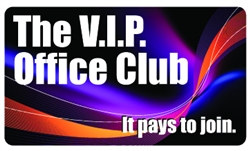 The VIP Office Club Plastic Pocket Card (1/Pkg)