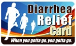 Diarrhea Relief Plastic Pocket Card (1/Pkg)