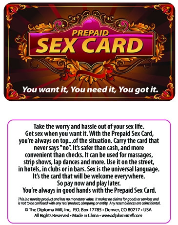 Prepaid Adult Cards 97