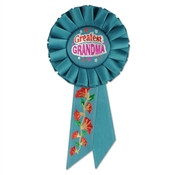 Greatest Grandma Rosette Ribbon