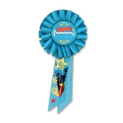 Happily Retired Rosette Ribbon