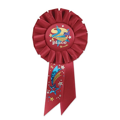 2nd Place Rosette Ribbon PartyCheap