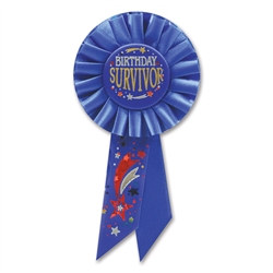 Birthday Survivor Rosette Ribbon