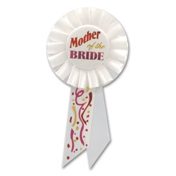 Mother of the Bride Rosette Ribbon