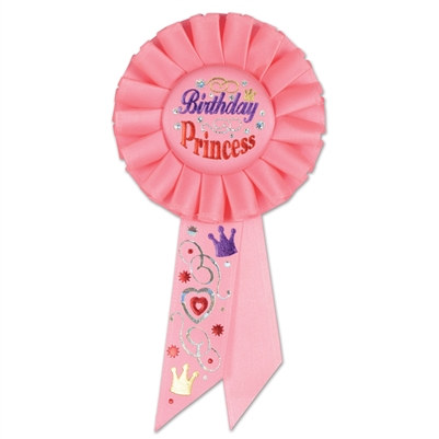 Birthday Princess Rosette Ribbon