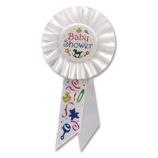 baby shower rosette ribbon partycheap
