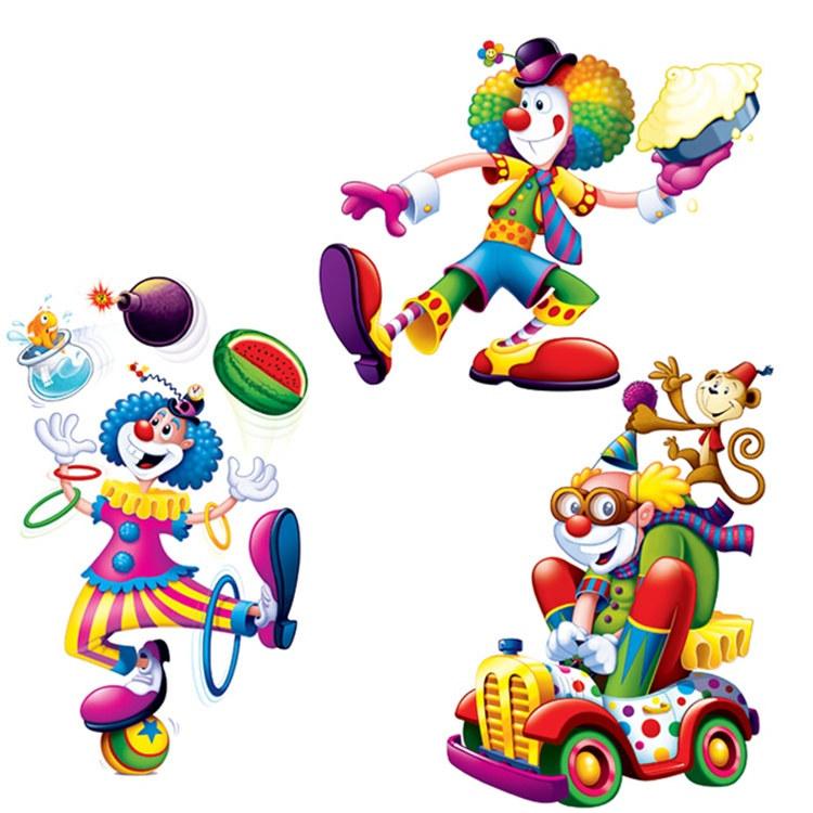 Circus clown cutouts 3 pkg partycheap - Cheap circus decorations ...