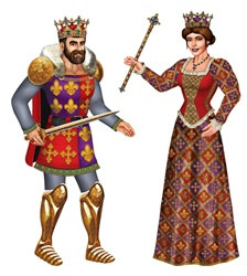 Jointed Royal King and Queen