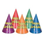 Balloon and Confetti Birthday Hats (sold 12 per box)