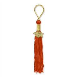 Red Tassel Key Chain
