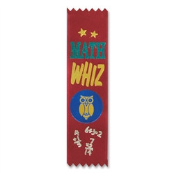 Math Whiz Value Pack Ribbons (10/Pkg)