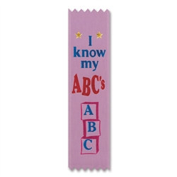 I Know My ABC's Value Pack Ribbons (10/Pkg)