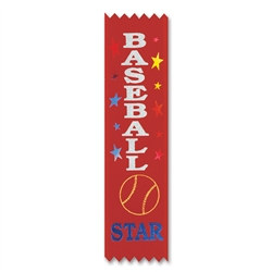 Baseball Star Value Pack Ribbons (10/Pkg)