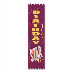 Birthday Star Value Pack Ribbons (10/Pkg)