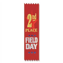 Field Day 2nd Place Value Pack Ribbons (10/Pkg)
