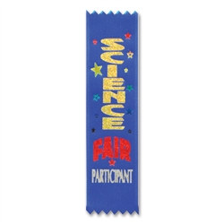 Science Fair Participant Value Pack Ribbons (10/Pkg)