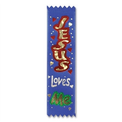 Jesus Loves Me Value Pack Ribbons (10/Pkg)