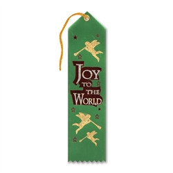 Joy To The World Award Ribbon