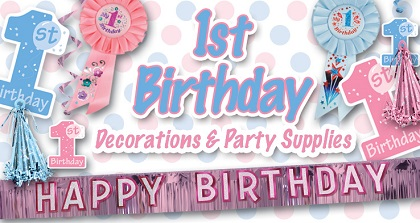 1st Birthday Party Supplies & Decorations from PartyCheap, make their First one to remember. We know how to party!