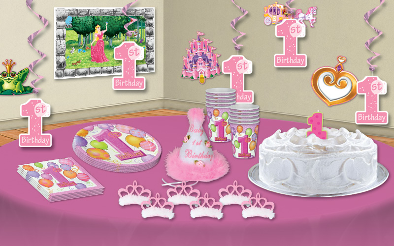 Fairy tale first birthday party ideas partycheap for Baby girl 1st birthday party decoration ideas